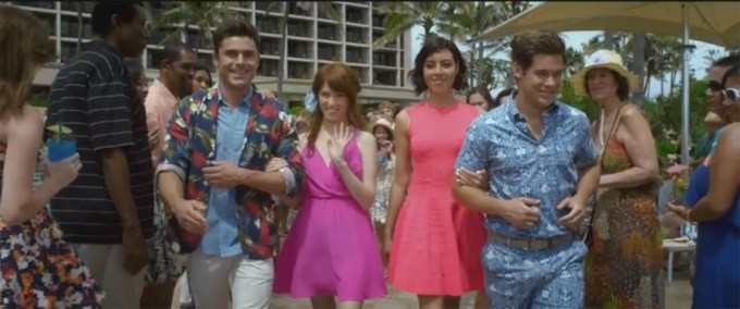 Zac Efron, Anna Kendrick, Aubrey Plaza and Adam Devine in MIKE AND DAVE NEED WEDDING DATES. Courtesy of 20th Century Fox.