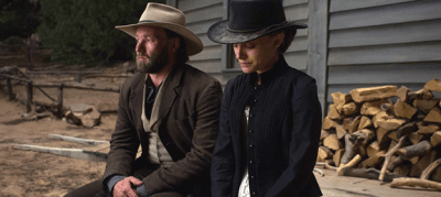 Joel Edgerton and Natalie Portman in JANE GOT A GUN. Photo courtesy The Weinstein Company.