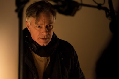 Whit Stillman on the set of LOVE & FRIENDSHIP. Photo courtesy of Roadside Attractions.