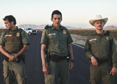 Johnny Simmons, Gabriel Luna and Clifton Collins Jr. star in TRANSPECOS. Photo courtesy of Samuel Goldwyn Films.