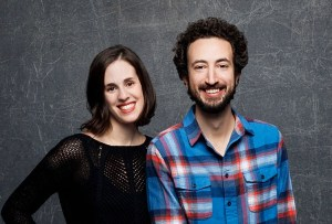 Directors Elyse Steinberg and Josh Kriegman from the film WEINER pose for a portrait at the 2016 Sundance Film Festival. Photo courtesy of Jay L. Clendenin / LA Times.