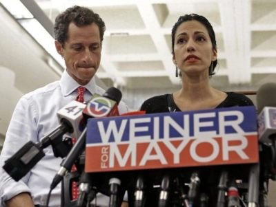 Anthony Weiner and Huma Abedin. Photo courtesy of Kathy Willens / Associated Press.