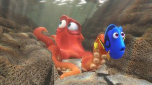 Dory (Ellen DeGeneres) and Hank (Ed O'Neill) in FINDING DORY. Courtesy of Disney-Pixar.