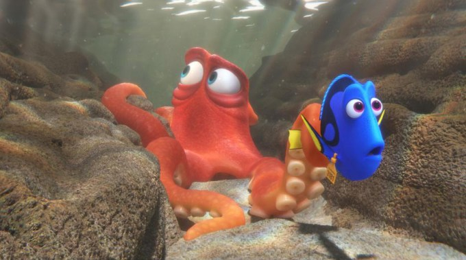Dory (Ellen DeGeneres) and Hank (Ed O'Neill) in FINDING DORY. Courtesy of Disney-Pixar.