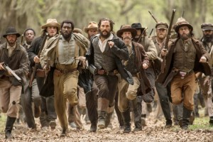 McConaughey, center, with the cast of FREE STATE OF JONES. Photo courtesy of STX Entertainment.