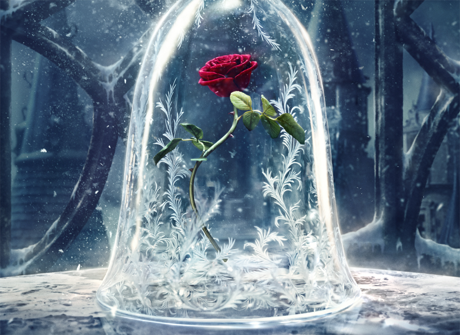 Disney's 'BEAUTY AND THE BEAST' teaser poster is a thing of, well, beauty