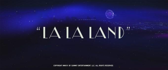 LA LA LAND title