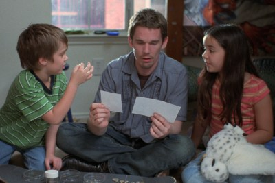 Ellar Coltrane, Ethan Hawke and Lorelei Linklater in BOYHOOD. Courtesy of IFC Films.