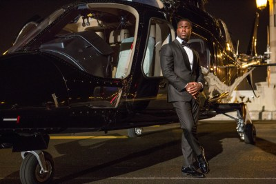 KEVIN HART: WHAT NOW? starts off with a James Bond spoof, features a performance at a football stadium in Philadelphia. Courtesy of Matt Kennedy.