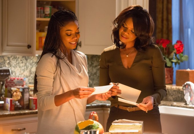 Gabrielle Union and Kimberly Elise in ALMOST CHRISTMAS. Courtesy of Universal Pictures.