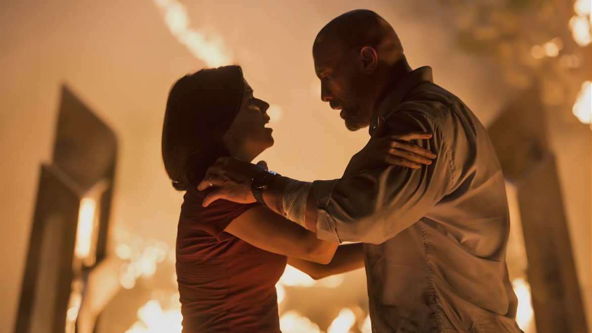 Movie Review: 'SKYSCRAPER' – in burning buildings, there's always time for a hug