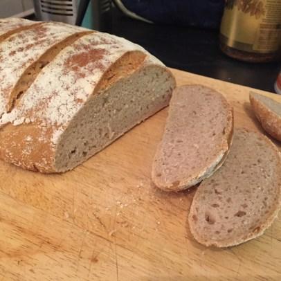 Week 2 - large sourdough loaf.