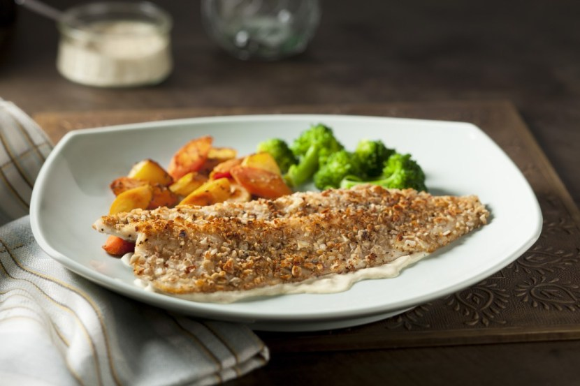 Almond & Sunflower Seed Crusted Trout