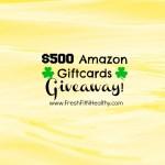 TWO $500 Amazon Giftcards Giveaway!