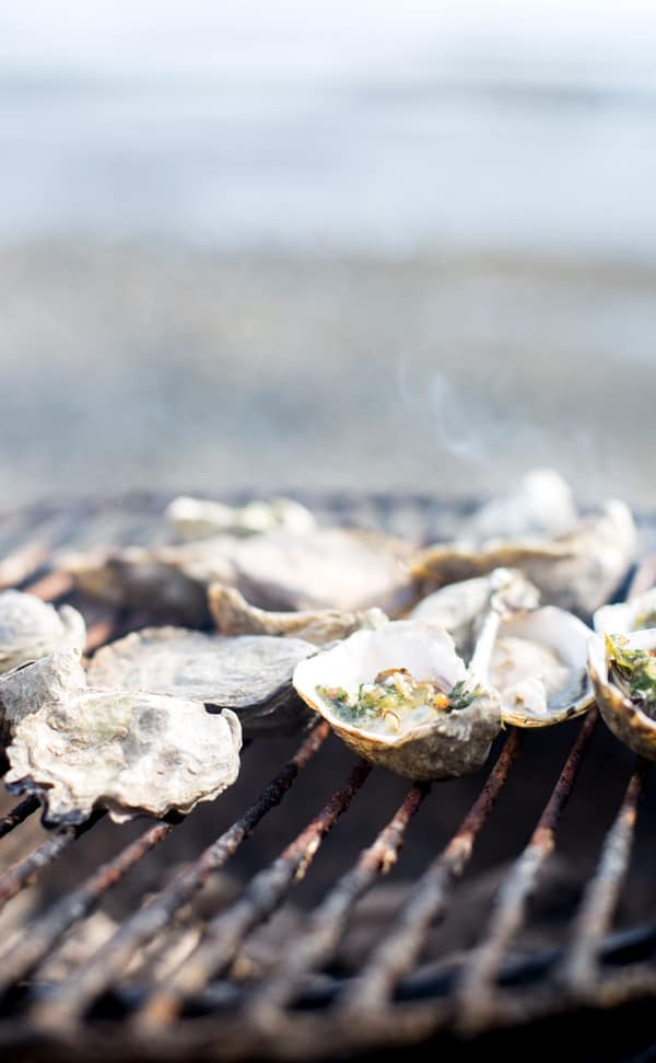 When the need for connection and togetherness hits, the solution is simple! Grab a great bottle of wine and some delicious snacks for a night of laid-back, summer relaxation with friends and family. And with Bacon Blue Cheese Compound Butter in the fridge a great time over Grilled Oysters Rockefeller and fabulous wine is a breeze, any day of the week! how to grill oysters Rockefeller   oysters rockefeller on the grill   grilled oysters Rockefeller recipe   bacon blue cheese butter   beach bbq #SeedOfAGreatSummer #CollectiveBias #DreamingTreeWines #ad