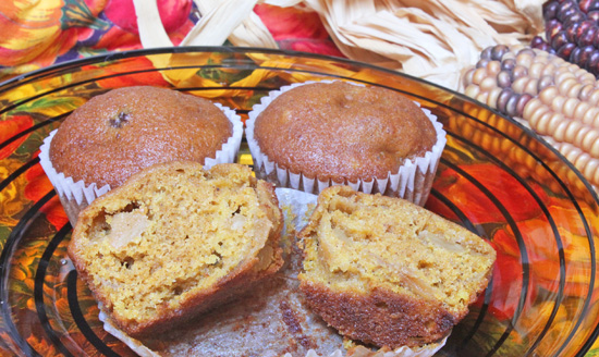 Caramelized Apple and Pumpkin Muffin #1940 10-12