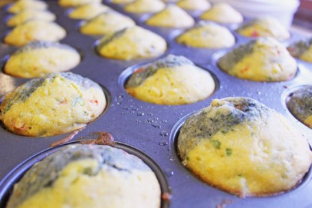 Mesa Grill's Blue and Yellow Corn Muffins from our 2013 cooking class.