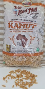 Bob's Red Mill sent me this package of kamut.