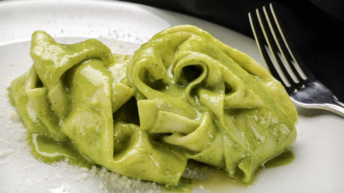 Factory Kitchen's Handkerchief Pasta.  Photo L.A. Times