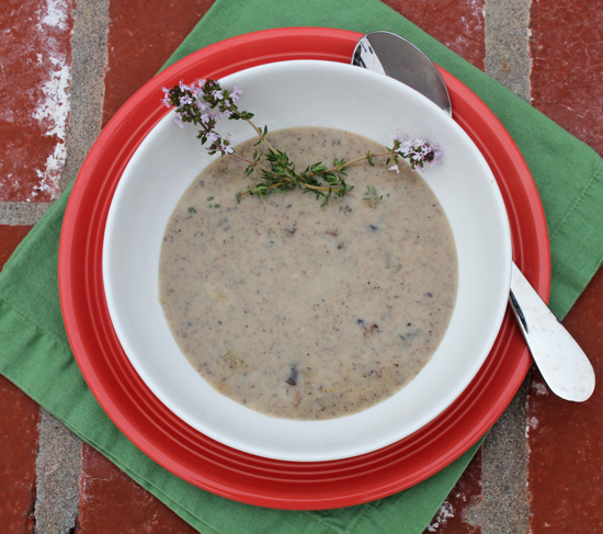 Fresh-made Mushroom Soup