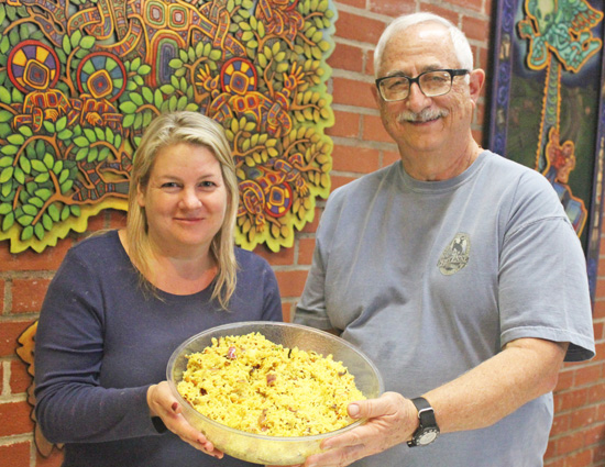 Tracie and Mike present their Lemon Rice.
