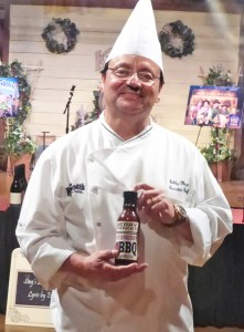 Chef Bobby Obezo debuts the new Boysenberry BBQ sauce.