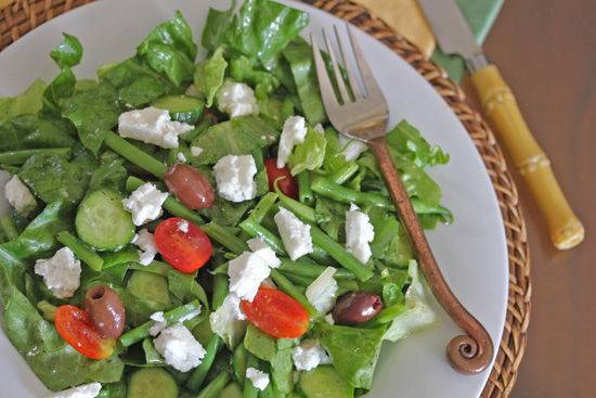 Greek Salad with roots in Persia, Israel and France.