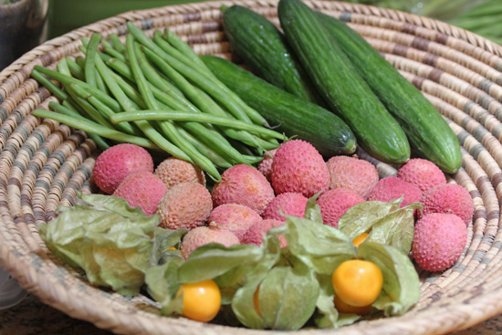 Melissa's Produce provided French haricot vert, Persian cucumbers, Lychee fruit and Goldenberries.