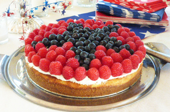 Be a star with this 4th of July Cheesecake.