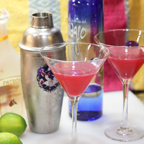 Mexican Cosmopolitan made with 100% Agave Silver Milagro Tequila.