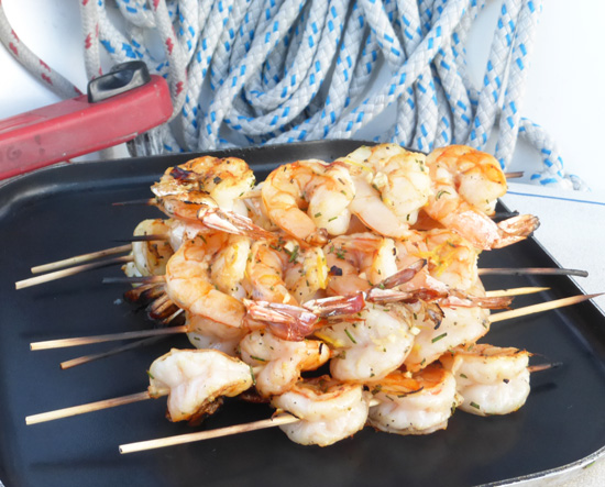 Catalina Island Grilled Shrimp recipe from FreshFoodinaFlash.com.