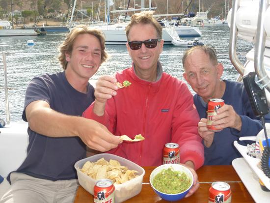 Catalina Island Sailing and guacamole from FreshFoodinaFlash.com.