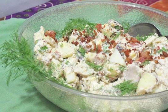 Bacon and Potato Salad from FreshFoodinaFlash.com.