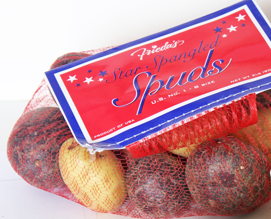 Frieda's Star Spangled Spuds featured in Bacon and Potato Salad.