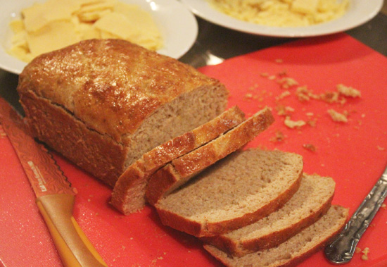 Quick and Easy Whole Wheat Bread recipe from FreshFoodinaFlash.com