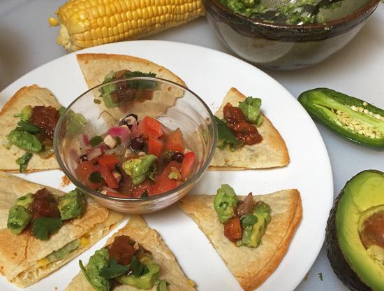 Corn and Zucchini Quesadilla from Bobby Flay at FreshFoodinaFlash.com