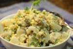 Potato Salad with Charred Chiles, Corn and Crema heat up the summer picnic