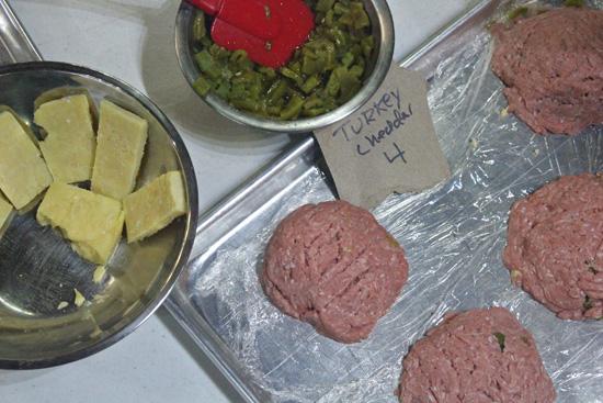 Green Chile and Bleu Cheese Stufed Burger recipe at FreshFoodinaFlash.com