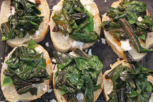 Greens on Fresh Baked Bread recipe at FreshFoodinaFlash.com