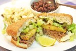 Jerk Burgers with Caramelized Pineapple Rings from Rachael Ray