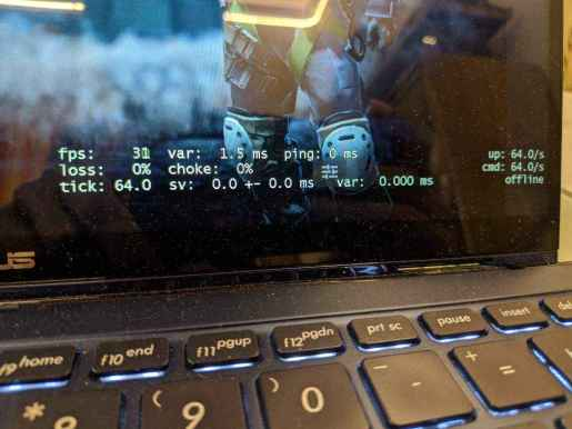 zenbook flip 13 i5 8th gen gaming performance review with fps of csgo live