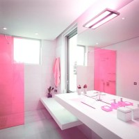 In Farbe gebadet elegante Ideen für rosa Badezimmer Designs