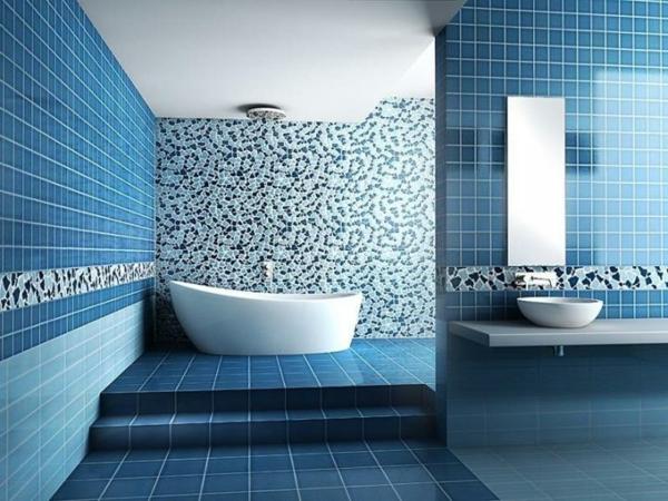 Home Design Idea » Badezimmer Deko Blau