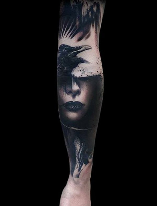 Skull And Wood Geiles Motiv Bloody Hell Tattoo
