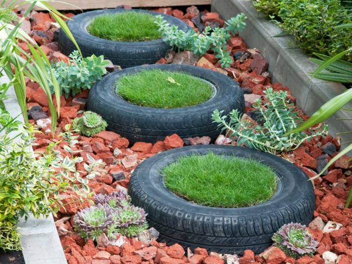 Gartendeko selber machen - Verwenden Sie alte Autoreifen wieder!