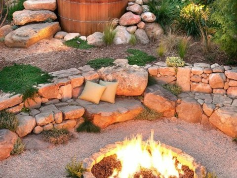 feuerstelle mit sitzgelegenheit wie können sie eine feuerstelle bauen? -  fotobeispiele