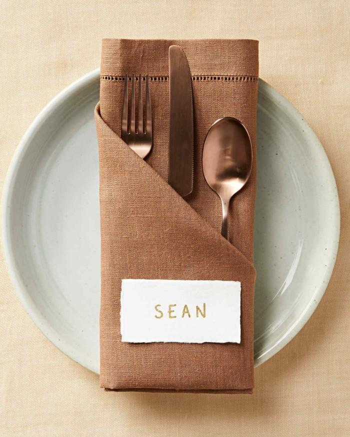 Bestecktasche Basteln Und Die Festliche Tischdeko Zu