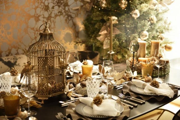 great best dco thmatique nol en or dcoration de table de nol with decoration de table noel with deco table de nol