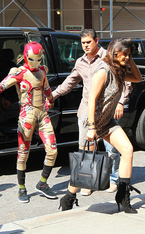 Jaden Smith dressed as Iron Man in NYC