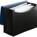 Smead Poly Expanding File Folder, 12 Pockets, 12 Customizable Tiered Tabs